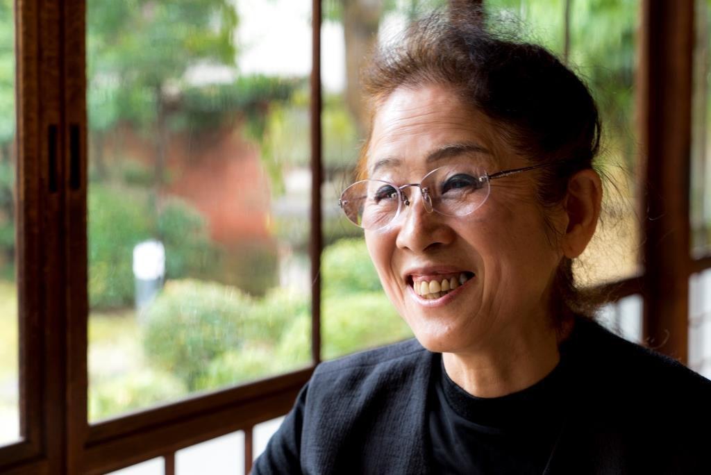 佐賀錦振興協議会会長の松本美紀子さん