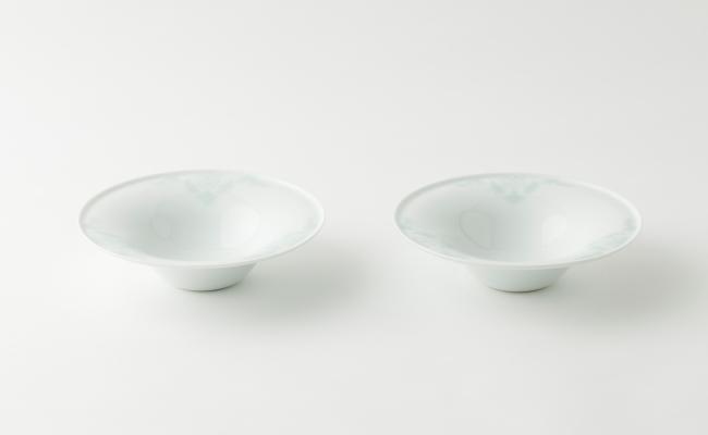 2005_伊万里焼/畑萬陶苑/青磁唐花浮彫反ボール2客