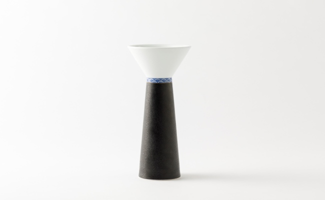 2011_伊万里焼/畑萬陶苑/キュイールデザイン青海波花瓶