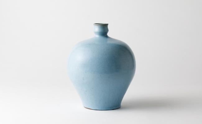 1306_有田焼/中島宏/青磁釉飾り壺