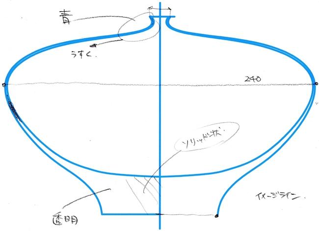 澄川さんが描いたファーストスケッチ