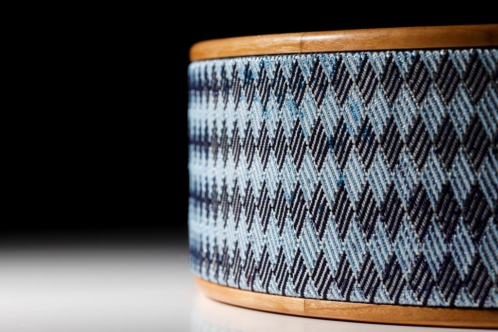 レベラションに出品する「波紋 市松」