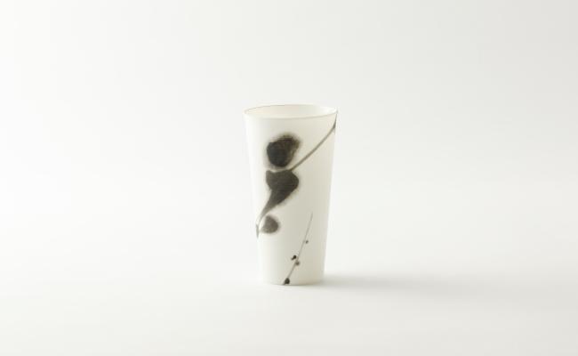 1609_有田焼/やま平窯/エッグシェルタンブラーM『書』春_K4_1433