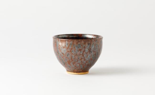 1310_有田焼/青木龍山/銀砂釉抹茶碗
