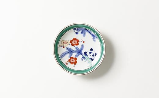 ふるさと納税返礼品_有田焼/たなかふみえ/染錦松竹梅パンダ縁付小皿