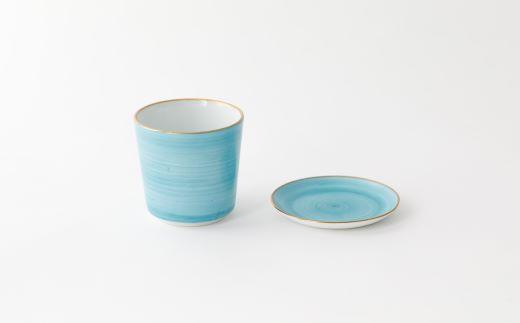 焼酎タンブラー翡翠と豆皿翡翠