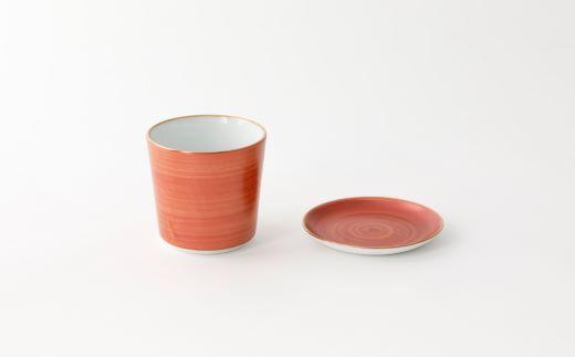 焼酎タンブラー赤銅(しゃくどう)と豆皿赤銅
