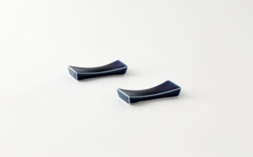 瑠璃箸置き2個セット